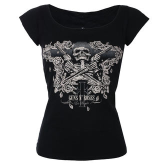 t-shirt metal donna Guns N' Roses - Skeleton - ROCK OFF, ROCK OFF, Guns N' Roses