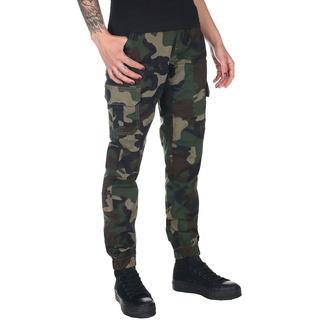 pantaloni URBAN CLASSICS - High Waist - woodcamo, URBAN CLASSICS