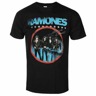 Maglietta da uomo Ramones - Circle Photo - Nero - ROCK OFF, ROCK OFF, Ramones
