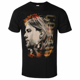 Maglietta da uomo NIRVANA - Kurt Cobain - Coloured Side View - Nero - ROCK OFF, ROCK OFF, Nirvana