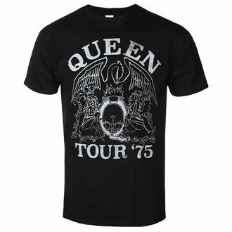 Maglietta da uomo Queen - Tour '75 BL ECO - ROCK OFF, ROCK OFF, Queen