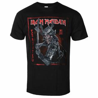 Maglietta da uomo Iron Maiden - Senjutsu Cover Distressed - Red BL - ROCK OFF - IMTEE132MB