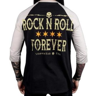 Maglietta da uomo con maniche a 3/4 WORNSTAR - Rock N Roll Forever, WORNSTAR