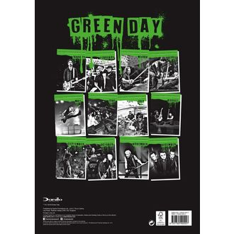 Calendario per anno 2019  AC  /  DC  - GREEN DAY, Green Day
