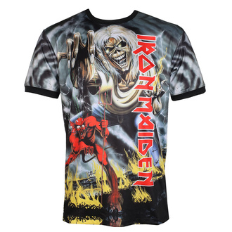 Maglietta da uomo (tecnica) IRON MAIDEN - NUMBER OF THE BEAST - NERO - AMPLIFIED, AMPLIFIED, Iron Maiden