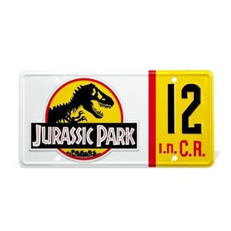 Targa Jurassic Park - Replica 1:1 Targa Dennis Nedry , NNM, Jurassic Park