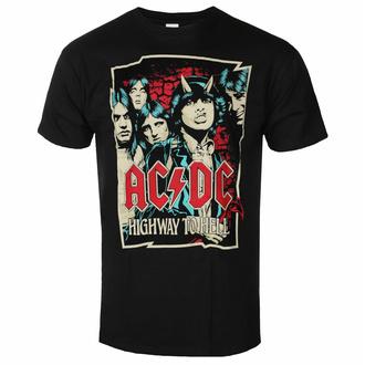 Maglietta da uomo AC/DC Highway To Hell - Sketch - Nero - ROCK OFF, ROCK OFF, AC-DC