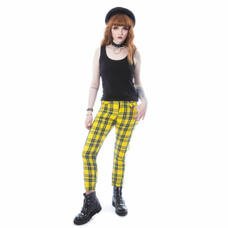 Pantaloni da donna CHEMICAL BLACK - XYLIA - TARTAN GIALLO, CHEMICAL BLACK