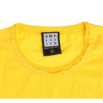 Maglietta da uomo QUEEN - LINE ART CREST - GIALLO CORVO - AMPLIFIED, AMPLIFIED, Queen