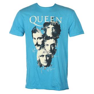 Maglietta da uomo QUEEN - AUTOGRAPHS - Teal PANTERA - AMPLIFIED, AMPLIFIED, Queen