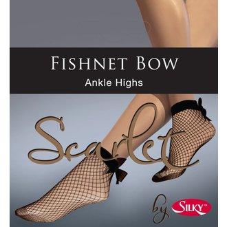 calzini LEGWEAR - Fishnet bow ankle highs - Nero, LEGWEAR