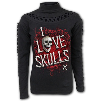 t-shirt donna - LOVE SKULLS - SPIRAL, SPIRAL